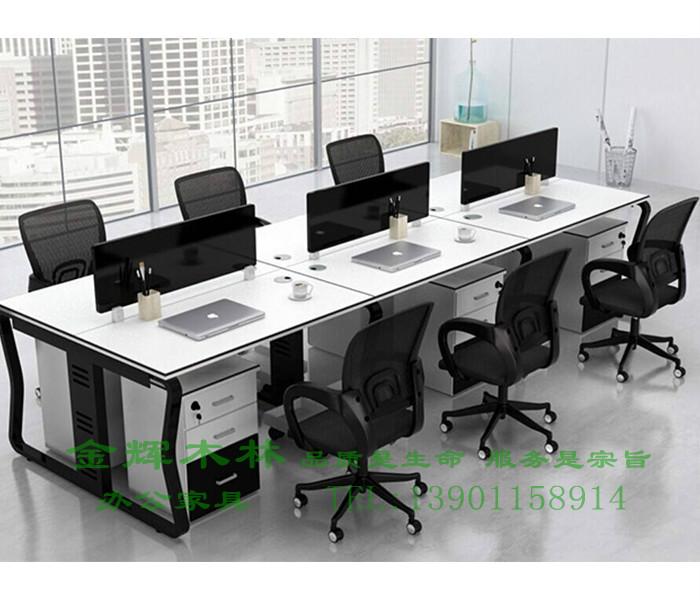 简约现代职员桌-4