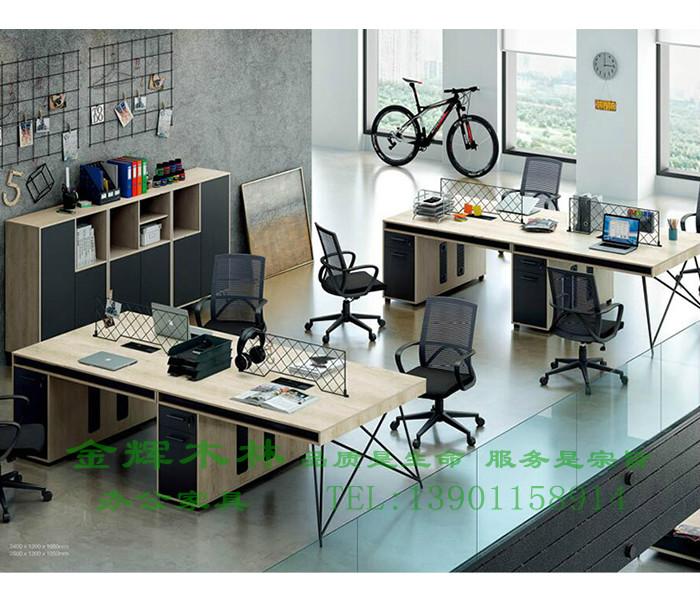 简约现代职员桌-11
