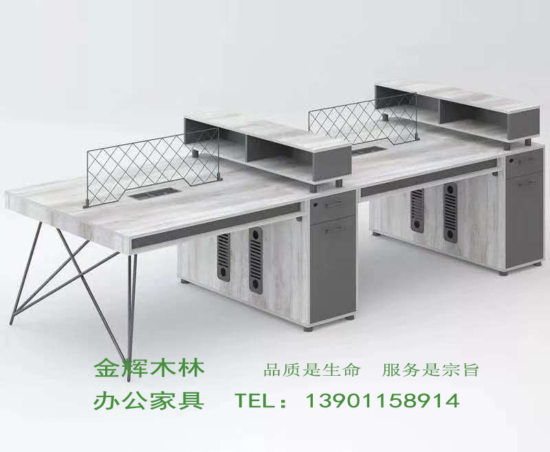 简约现代职员桌-10
